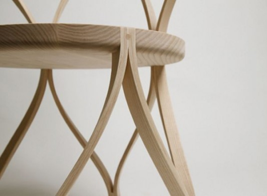 artistic bentwood chair detailed