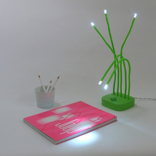 Fresh green desk lamp with simple configuration