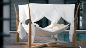 Comfortable Outdoor Relaxation Hanging Bed, Kokoon by Royal Botania