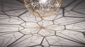 Etch Web Lamp by Tom Dixon creative pendant lamp with ultimate shadow