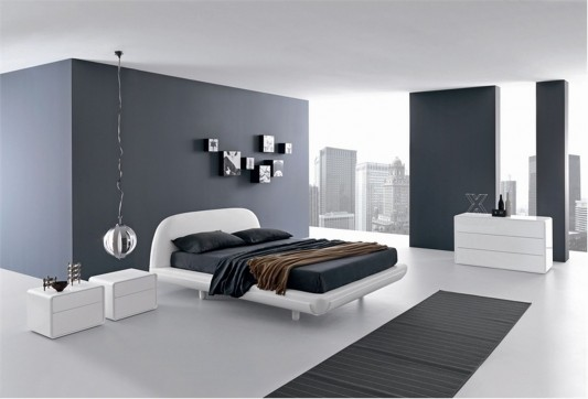 Fusion by Presotto minimalist and stylish white lacquered bed