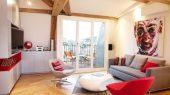 Minimalist and naturally loft apartment living room interior design