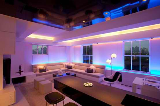 Modern Apartment Furniture  With Lighting Mood