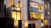 Modern four storey urban home design exterior design