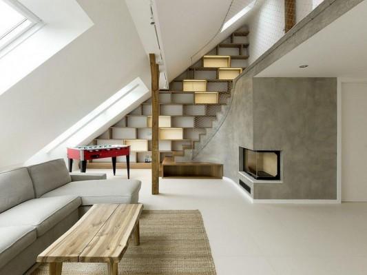 Naturally Generous Attic Space Interior Design