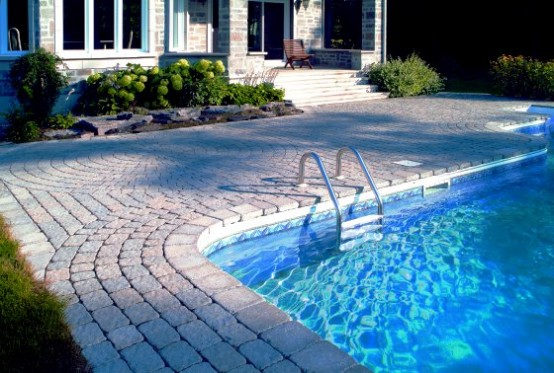 Swimming Pool Design with Deck Stone