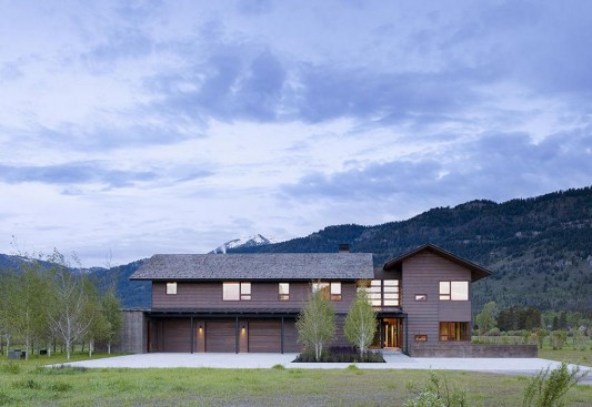 beauty natural residence with wooden exterior