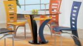 casual and unique dining furniture set with colorful design