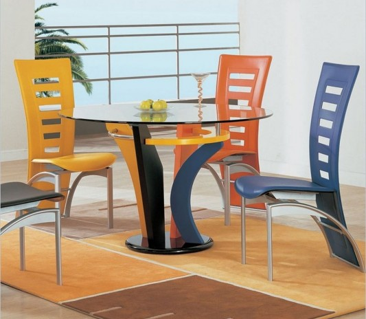 colorful casual dining furniture set design by global furniture usa rh theluxhome com