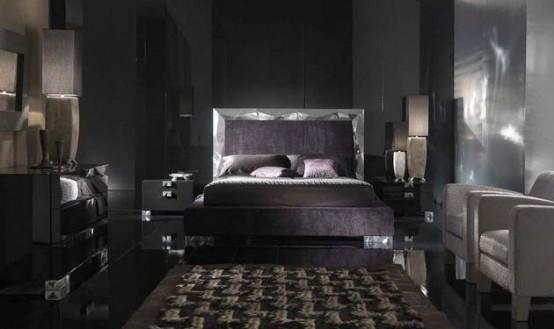 contemporary bedroom as interior concept