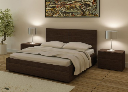 Storage Contemporary Design Double Bed Aura Bed From Go