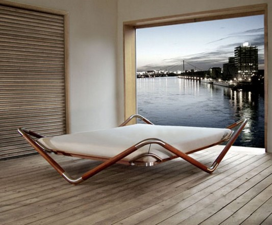 float  bed modern minimalist wooden urban bed design
