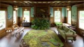 get naturally and green living room with forrest rugs