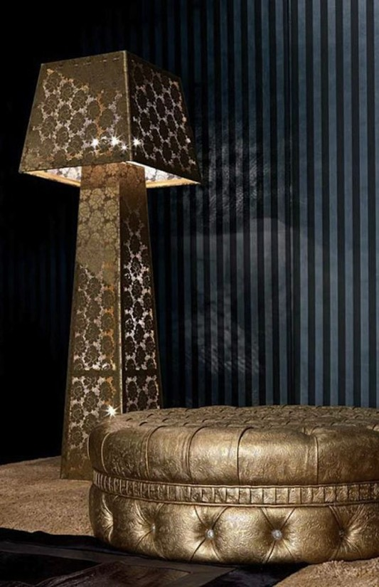 luxurious and romantic floor lamp design for bedroom and interior