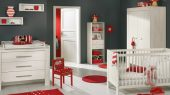 minimalist baby and nursery room design with furniture sets