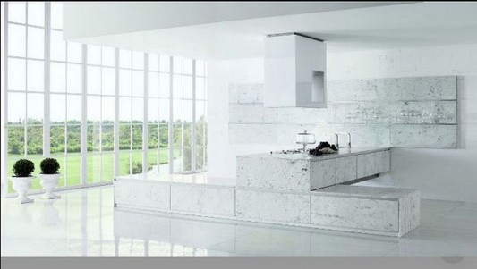 modern and luxurious kitchen decorating and furniture design