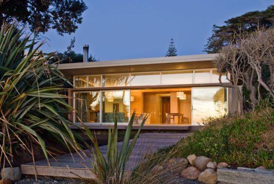 modern beach house design in raumati beach