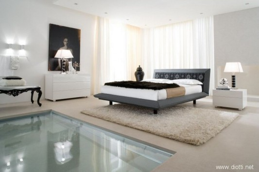 modern bedroom suites with acca cover by Diotti