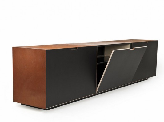 Office Furniture: Modern Minimalist Steel Sideboard For Office Or Home
