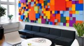 planning of Pensions Agency in Sweden colored interior walls