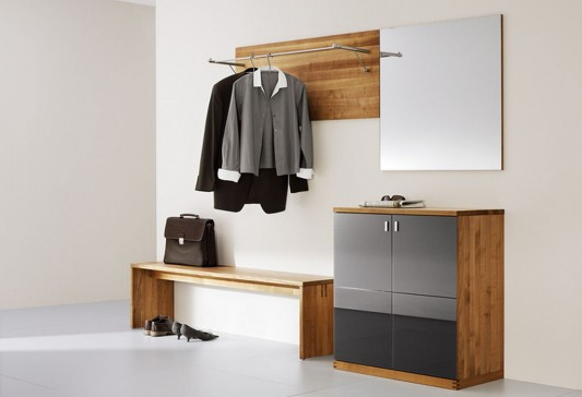 simple minimalist cubus walk-in wardrobes design by team7