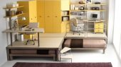 smooth brown and big yellow teenage loft