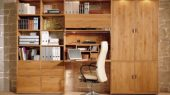 traditional bookcase minimalist design integrated folding table for study room