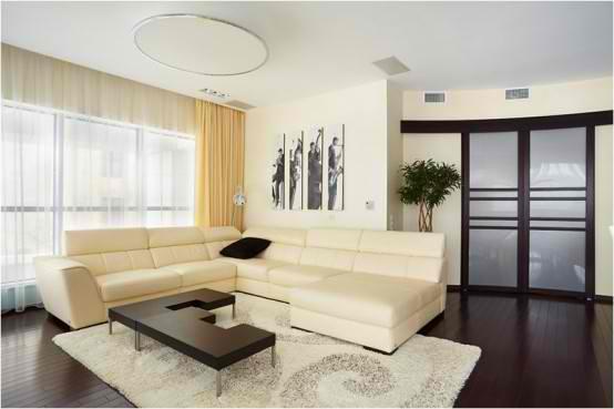 Apartment Interior Design With Wood Floors