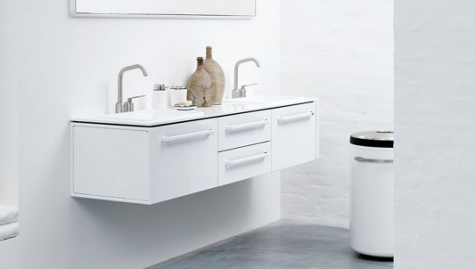 Modern minimalist white modular bathroom furniture