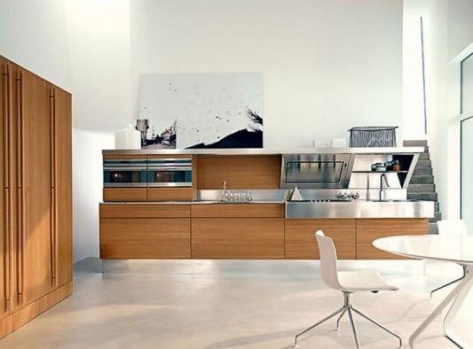 Simple work area modern contemporary kitchen design