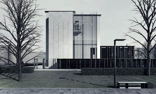 The Ochota`s Theater Expansion of Building front view
