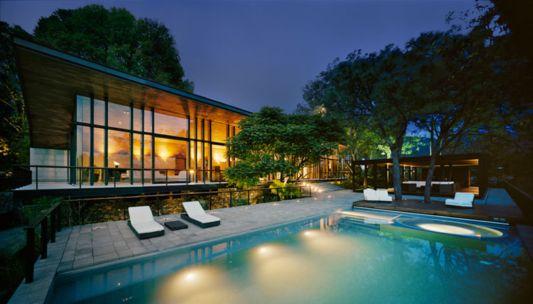 casa en el bosque swimming pool design ideas