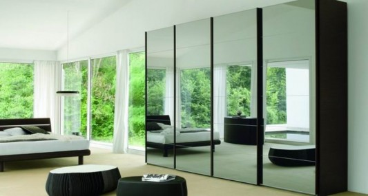 concrete lightness modern sliding door wardrobes design