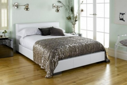 contemporary genuine leather bed luxurious design