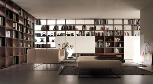 Modern Minimalist Library Room Decorating with Selecta ...