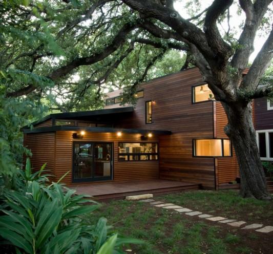 contemporary wooden house design ideas