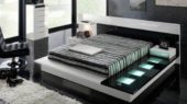 modern black and white bedroom set
