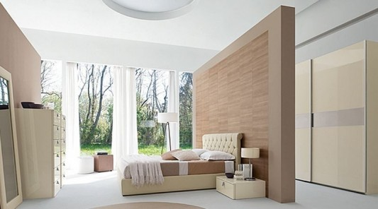 Bedroom Partition Walls : Contemporary master bedroom decorating with luxurious