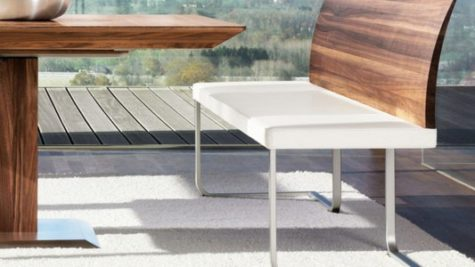 Modern Minimalist Cantilever Dining Room Bench