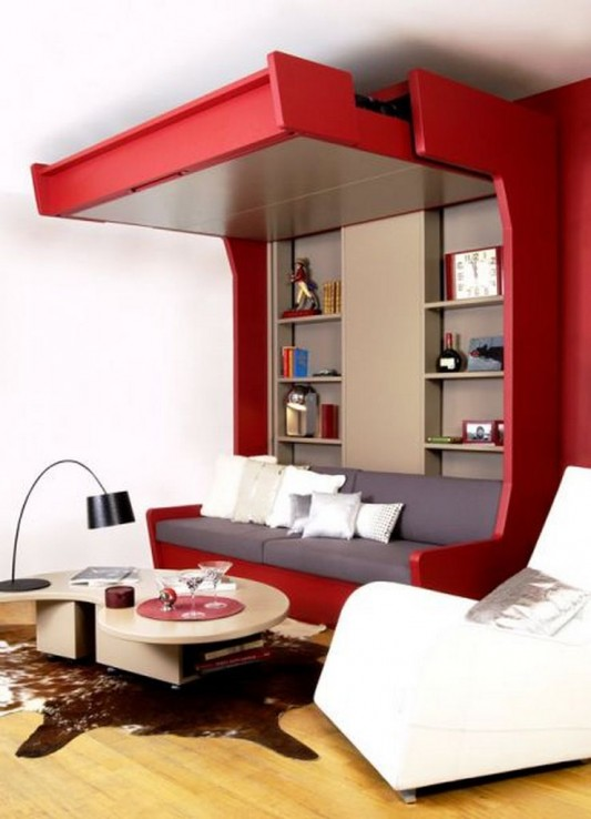 Extra bed design decorating ideas for limited space by for Extra small living room ideas
