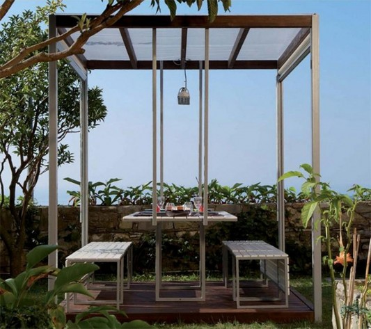 modern outdoor gazebo with minimalist canopy design 1