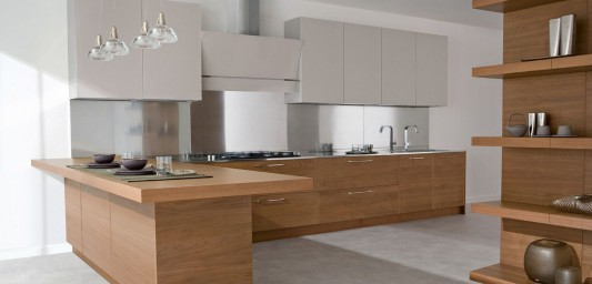 modern wood and lacquered kitchen design ideas