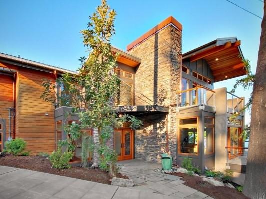 natural lake washington residence architecture exterior design