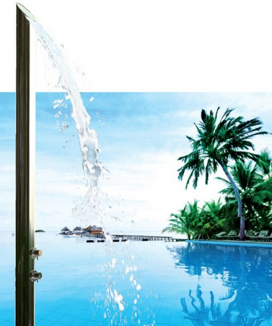 super sleek and modern luxury shower bath Bossini