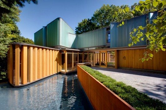 Beautiful Integral House Exterior design by Shim Sutcliffe Architects