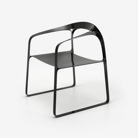 Carbon Fibre Version Plooop Chair by Timothy Schreiber