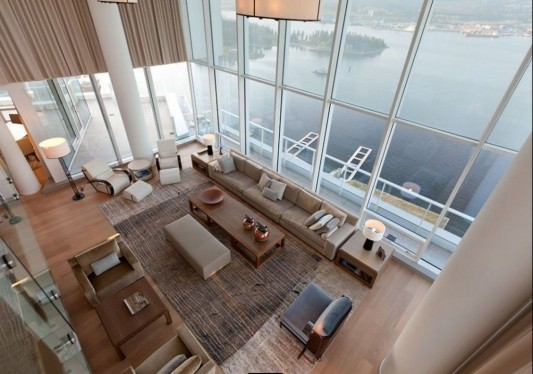 Comfortably Luxurious Penthouse in Fairmont Building interior design