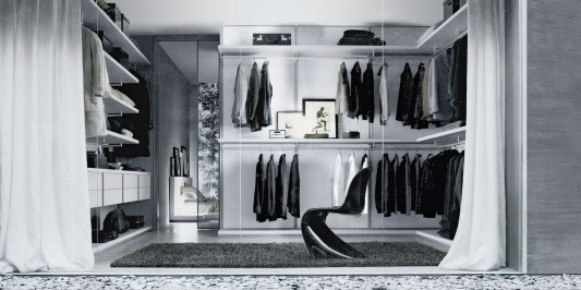 Dress bold walk-in closet modern and practical design