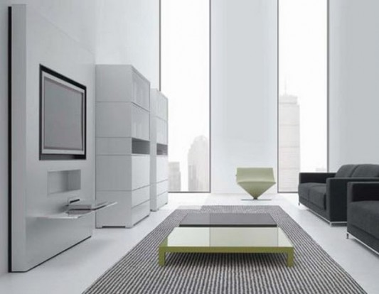 Modern wall unit design for Plasma TV stand