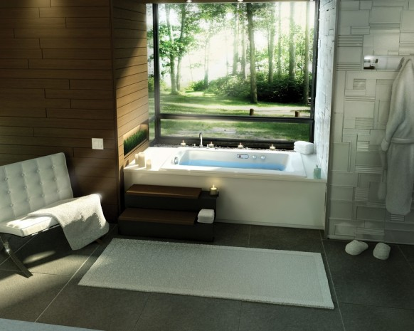 Release contemporary bathroom design